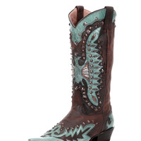 Women's Mad Dog Goat Vamp With Riveted Overlay Boot