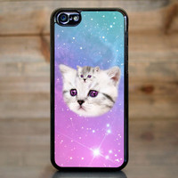 Cute Pastel Galaxy Kittens Case for Apple iPhone 5c