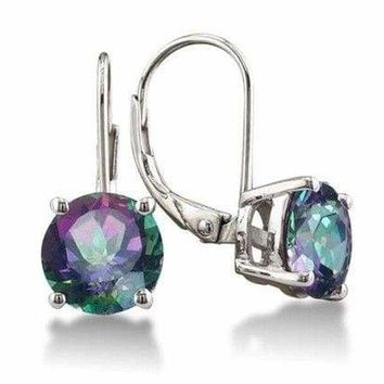 3.5 Carat Mystic Topaz Leverback Earrings