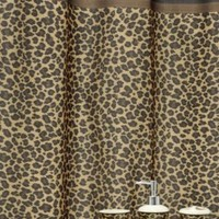 Famous Home Fashions Leopard Bath Accessory Set, Brown, 16-Piece