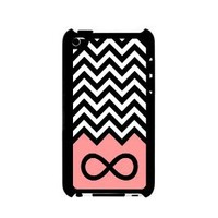 Amazon.com: Infinity Coral Chevron iPod Touch 4 Case - For iPod Touch 4 4G - Designer Plastic Snap on Case: Cell Phones & Accessories