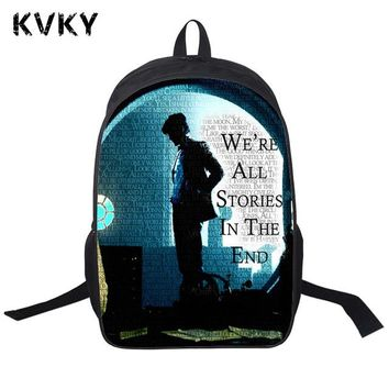 Student Backpack Children Tv Show Doctor Who Backpack Pringting Backpack For Teenagers Boys Girls School Bags Bonnie Mario Bro. Chica  AT_49_3