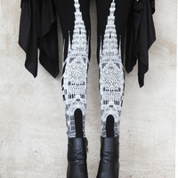 preorder - new CATHEDRAL legging- womens bottoms - leggings - printed leggings