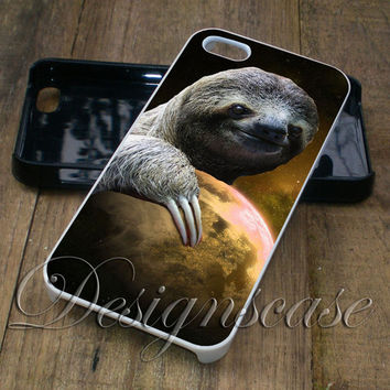 Dolla Dolla Bill Yall Sloth On The Moon - iPhone 4/4S, iPhone 5/5S/5C/6, Samsung Galaxy S3/S4/S5 Cases