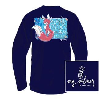 YOUTH Bright Eyed Long Sleeve Tee in Navy by MG Palmer