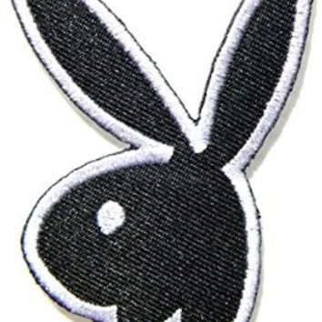 Playboy Bunny Rabbit Sexy Girl Cartoon Logo Jacket Patch Sew Iron on Embroidered Symbol Badge Cloth Sign Costume By Prinya Shop