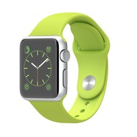 Apple Watch Sport 38mm Silver Aluminum Case with Green Sport Band