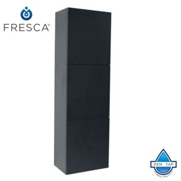 Fresca Bathroom Linen Side Cabinet w/ 3 Large Storage Areas