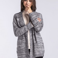Casual V Neck Long Sleeve Open Front Cardigan - NOVASHE.com