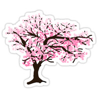 'Cherrytree Blossom' Sticker by pda1986