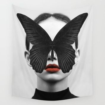 Butterfly Eyes Fabric Wall Tapestry