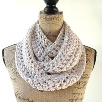Wheat Cowl Scarf Fall Winter Women's Accessory Infinity Scarf