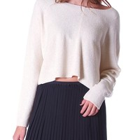 Current Sweater Crop Top - Ivory
