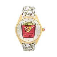 KEEP YOUR EYES ON THE FRIES BOXED WATCH: Betsey Johnson