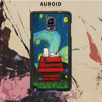 Starry Night Snoopy Samsung Galaxy Note 4 Case Auroid