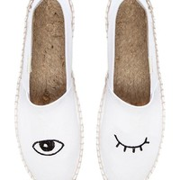 Soludos Jason Polan Wink Loafer in White