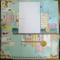 12x12 Premade scrapbook page  fun playful can be by ScrappyDoodads