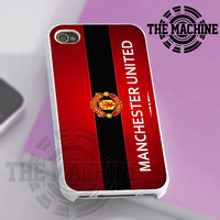 Manchester United The Red Logo - iPhone 4/4s/5/5s/5c Case - Samsung Galaxy S2/S3/S4 Case - Black or White