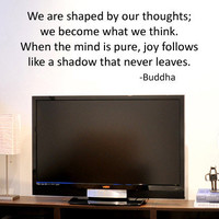Buddhist We Are Shaped by Our Thoughts Vinyl by greatwallsoffire