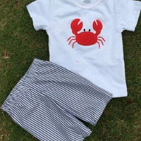 In stock Boys Crab Short Set