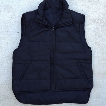 Story Night Black Puffer Vest