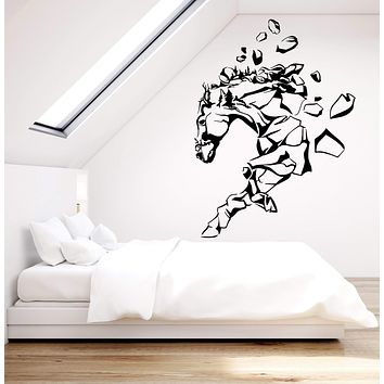 Vinyl Wall Decal Mountain Abstract Horse Nature Rock Stickers (2562ig)