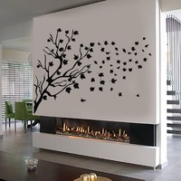 Vinyl Wall Decal Tree Leaves Beautiful Room Home Decor Stickers Unique Gift (486ig)