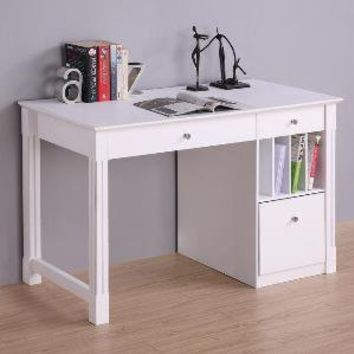 Deluxe White Wood Computer Desk with Hutch | Overstock.com