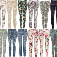 Go beyond basic denims with printed jeans