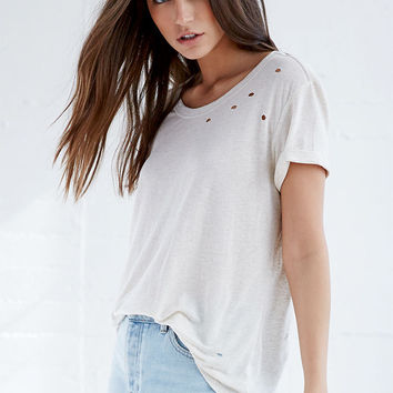 Me To We Show Thru Distressed Mineral Wash T-Shirt at PacSun.com