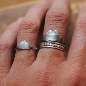 Mountain Range Ring | Sterling Silver