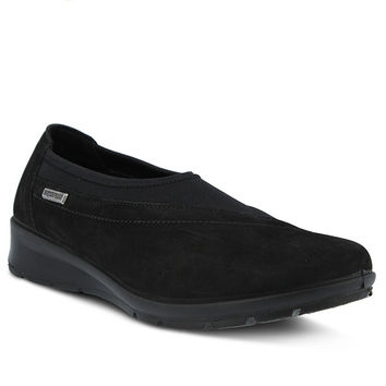 Leather Style Name: SOFRAN-Italian leather and lycra slip-on shootie -2 Colors