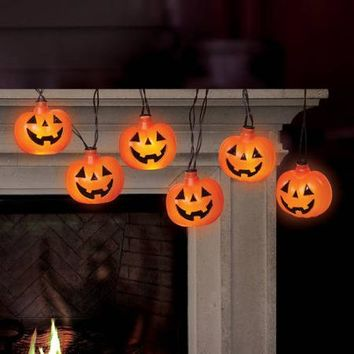 Battery-Operated Pumpkin LED Halloween Lights with Spooky Sound - Walmart.com