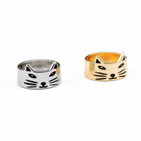 ^ ^ Cat Ring in Gold or Silver