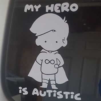 My Hero Boy Vinyl Sticker - Identity First Language