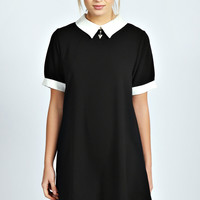 Tammy Contrast Collar Swing Dress