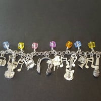 Musical instruments / music stainless steel charm bracelet