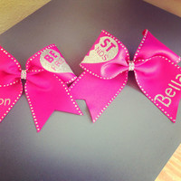 Best Friend Cheer Bows with Bling