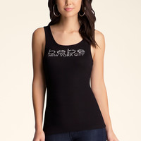 bebe Womens Bebe Logo New York Tank