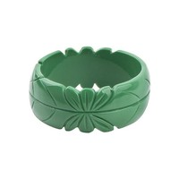 DCCKFV3 GuanLong Romantic Floral Resin Carved Leaf Bangle Jewelry 2017 New Collection Femme Bangles Puseiras Jewellery
