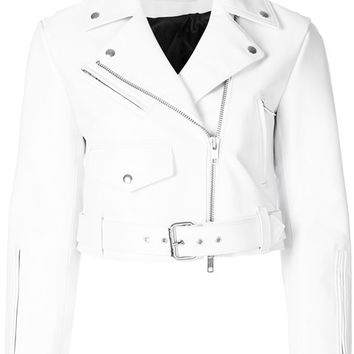 Calvin Klein 205W39nyc Cropped Biker Jacket - Farfetch