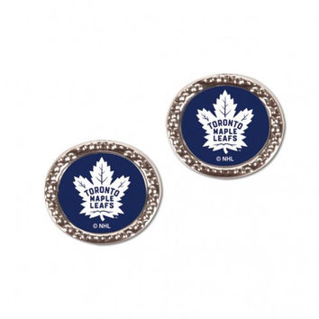 Toronto Maple Leafs Earrings Post Style