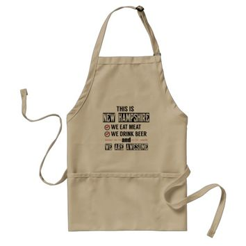 New Hampshire Eat Meat Drink Beer Awesome Adult Apron