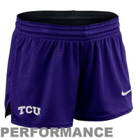 Nike TCU Horned Frogs Ladies Mesh Dri-FIT Performance Shorts - Purple