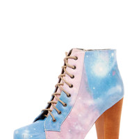 Alissa Galaxy Print Lace Up Boot