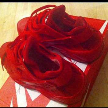 Custom Red Nike Huaraches