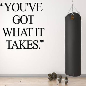 Gym Decor, Inspirational Quote, Studio Wall Decal, Gym Wall Decoration, Yoga Studio Wall Art, Get Fit Quote Decor, Wall Decal Quotes nm035