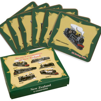 Steam Locomotive Coaster Set