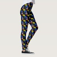 Cool Groovy Typography Text Design Leggings
