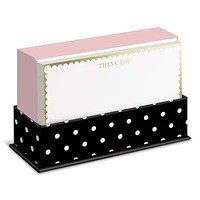 Gold and Pink Thank You Flat Notes Boxed Set
